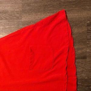 Agnes & Dora Tops - Agnes & Dora   s   tunic with pockets solid red